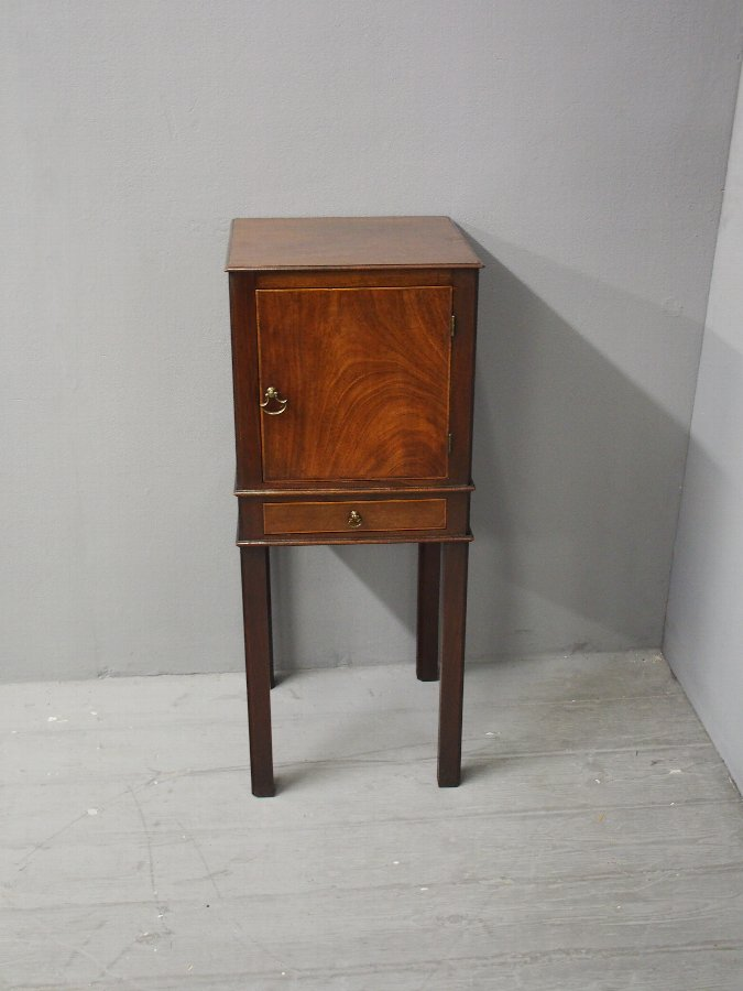 Antique Chippendale Style Mahogany Bedside Locker