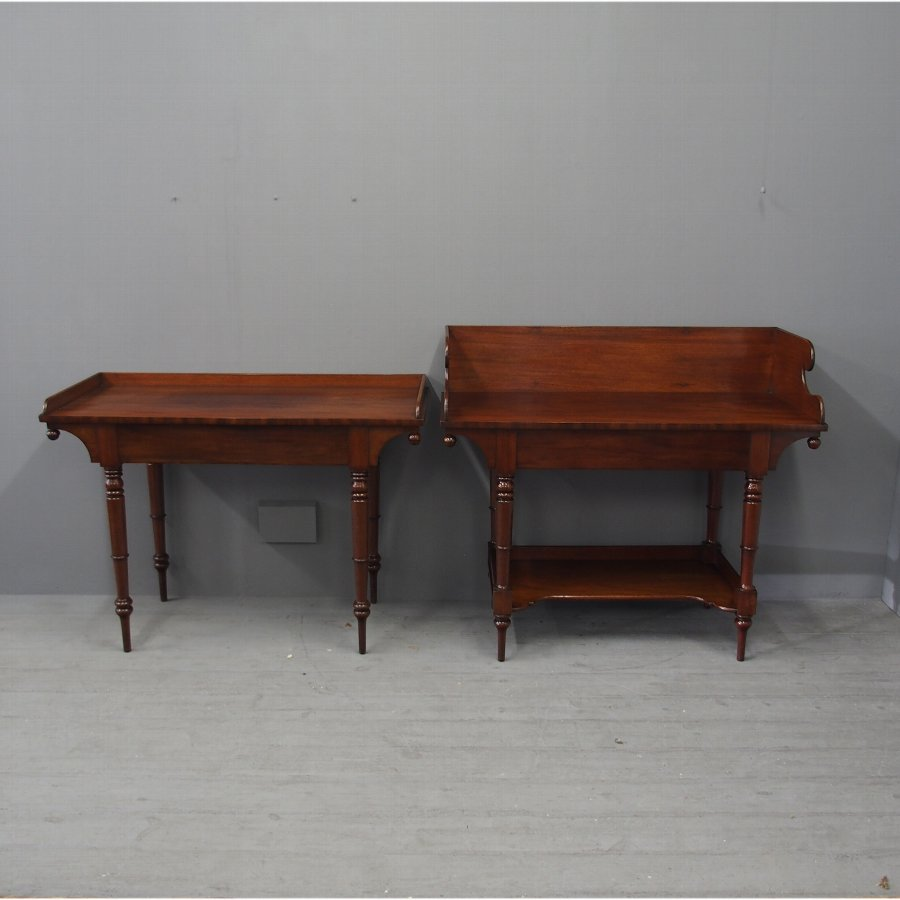 Matched Pair of a Wash Stand and Writing Table