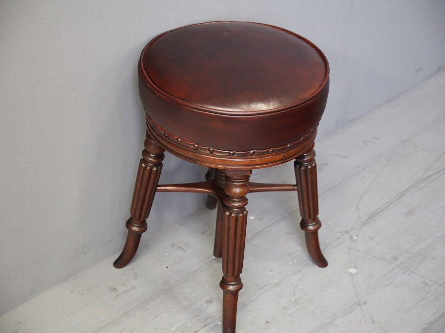 Antique William IV Mahogany Piano Stool