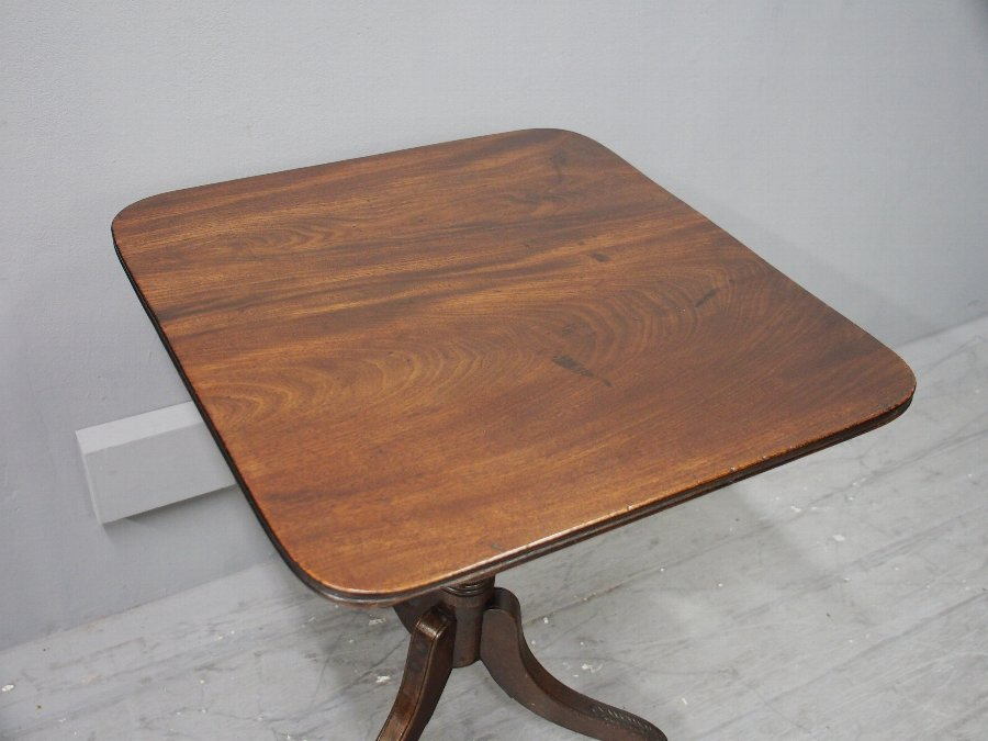 Antique Regency Mahogany Snap Top Occasional Table