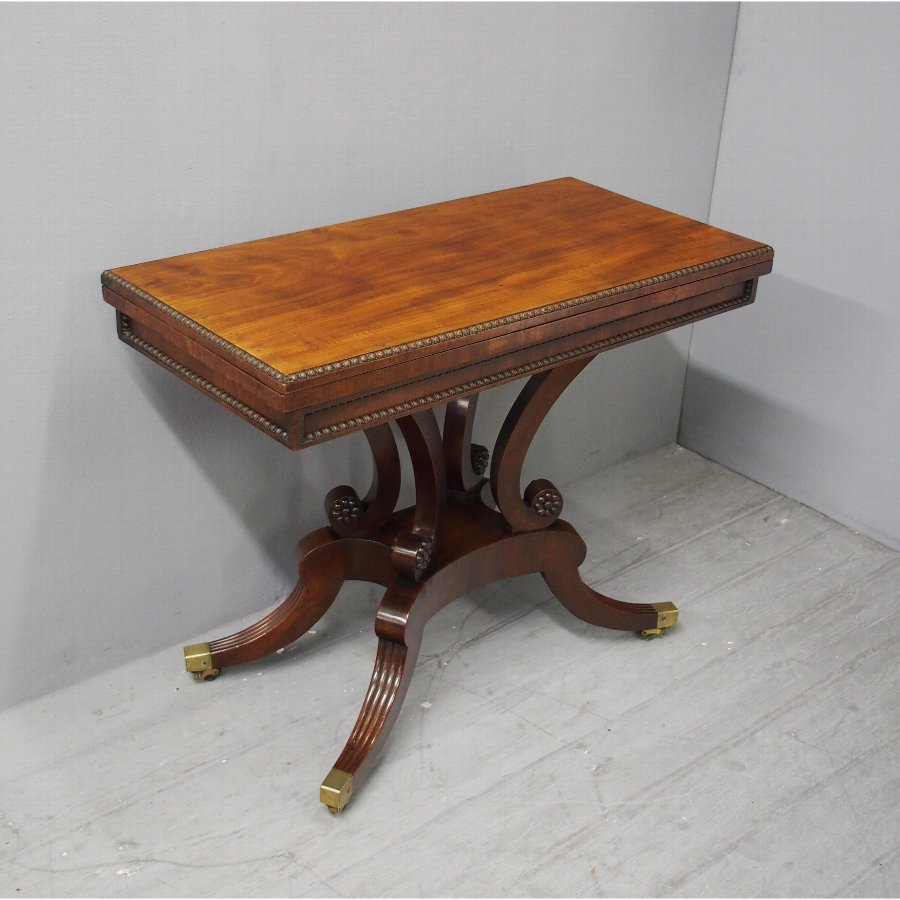 Regency Mahogany Tea Table by William Trotter