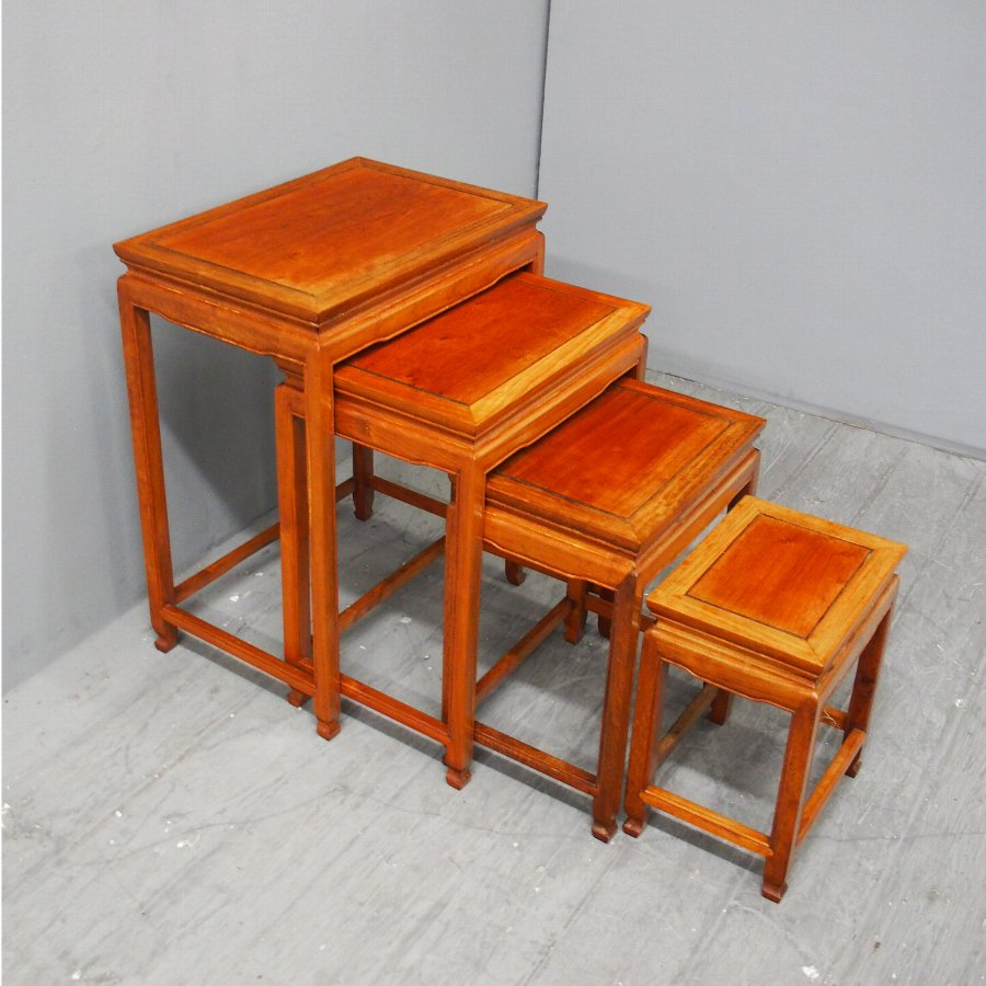 Nest of 4 Chinese Hardwood Tables