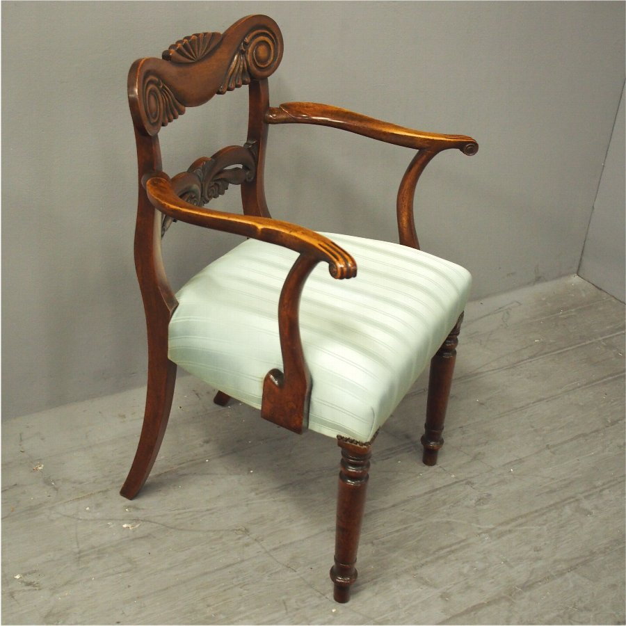Scottish George IV Mahogany Armchair