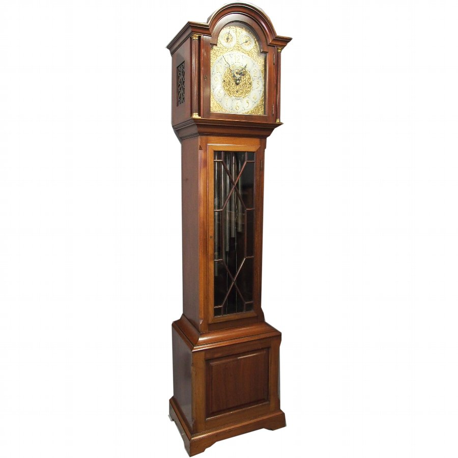 Edwardian Mahogany Grandfather Clock by James Ramsay, Dundee