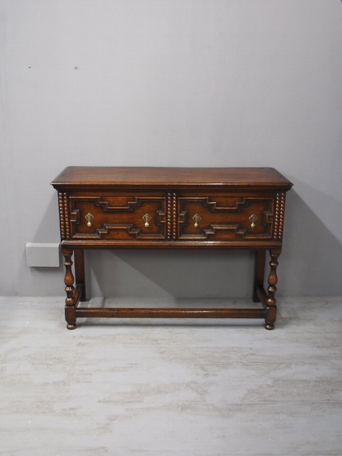 Antique  Jacobean Style Oak Serving Table