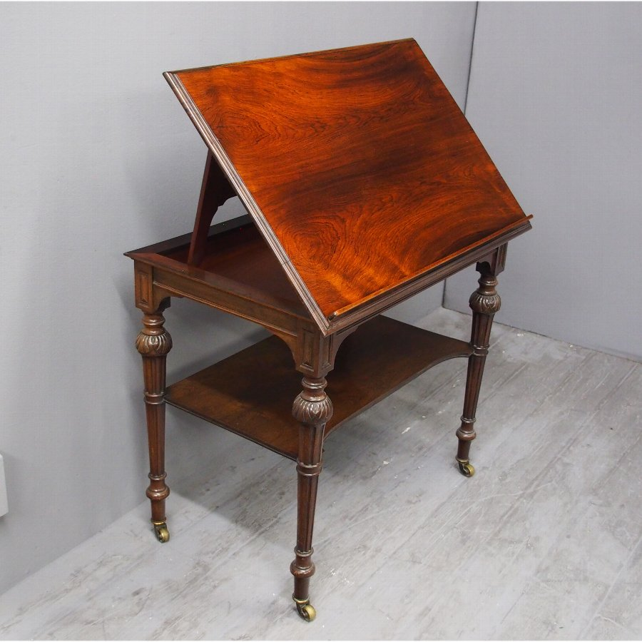 Victorian Rosewood Architects Table
