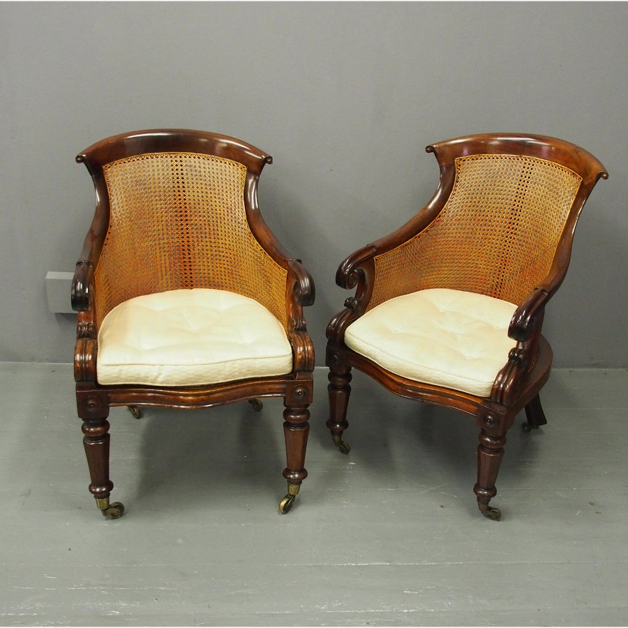 Pair of Regency Bergere Armchairs