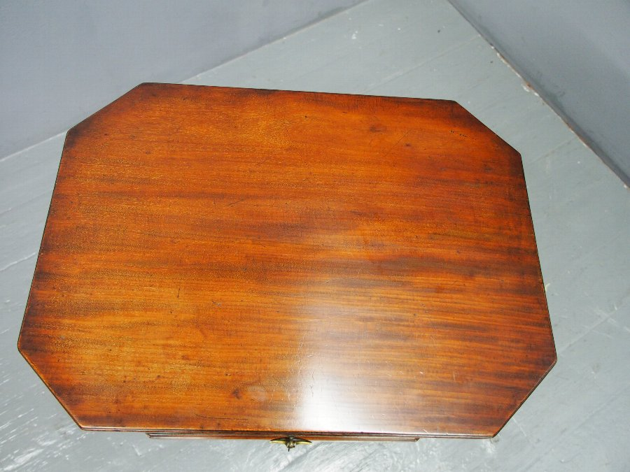 Antique George III Octagonal Mahogany Cellarette