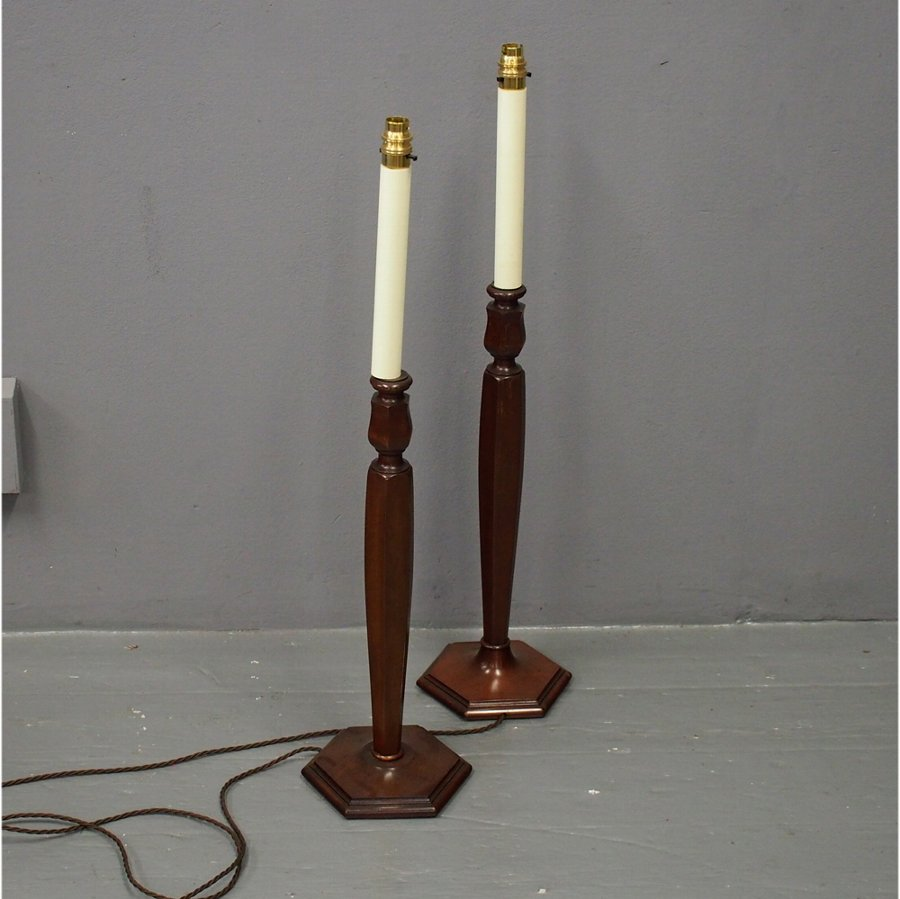 Mahogany Candlesticks by Heals of London