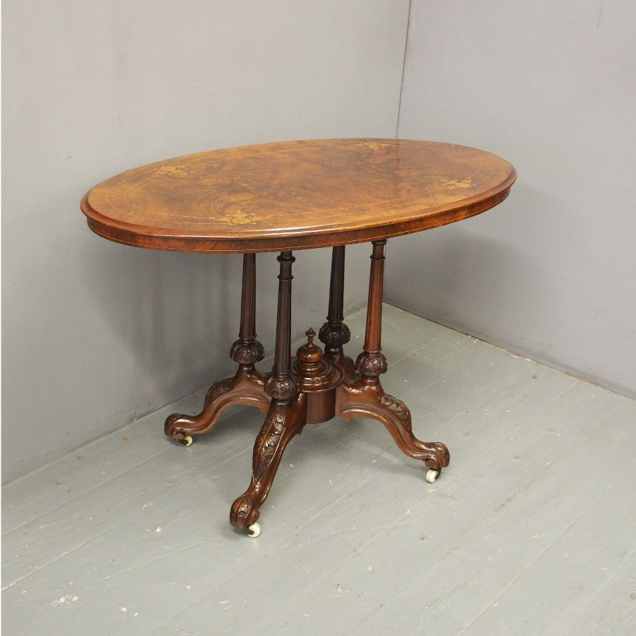 Victorian Walnut and Inlaid Centre Table