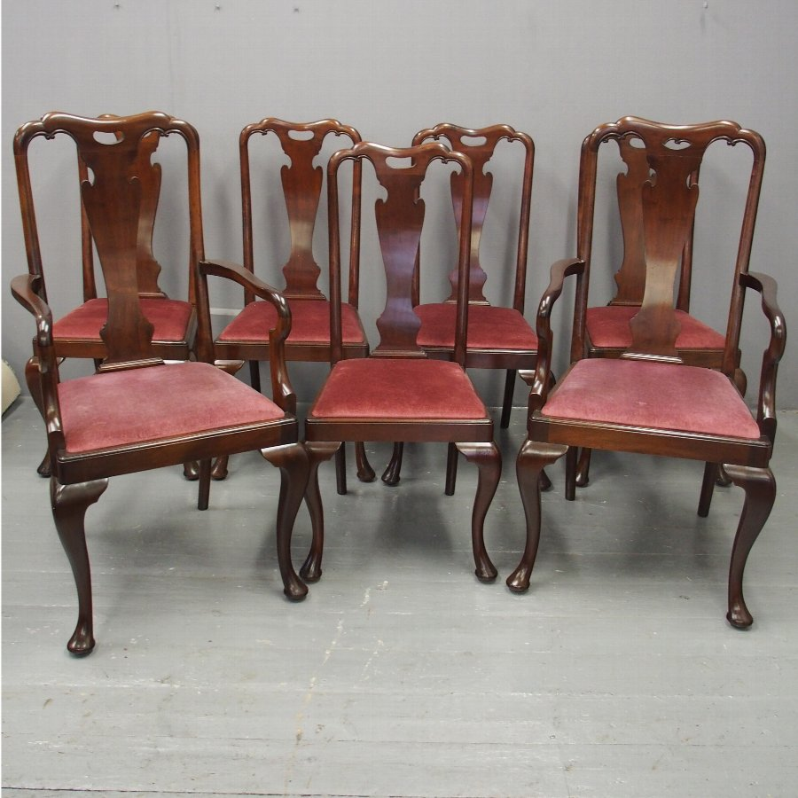 Set of 7 George I Style Dining Chairs