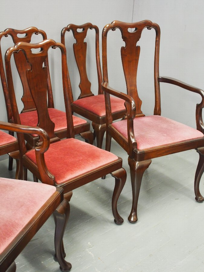 Antique Set of 7 George I Style Dining Chairs