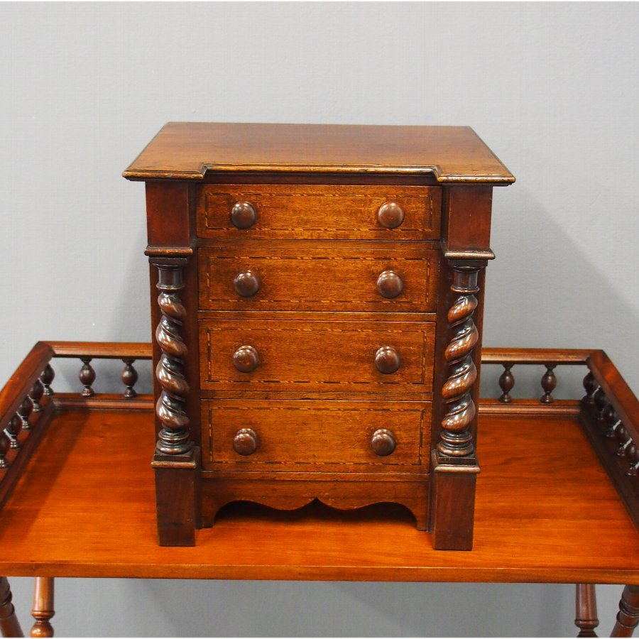 Victorian Apprentice Chest or Collectors Cabinet