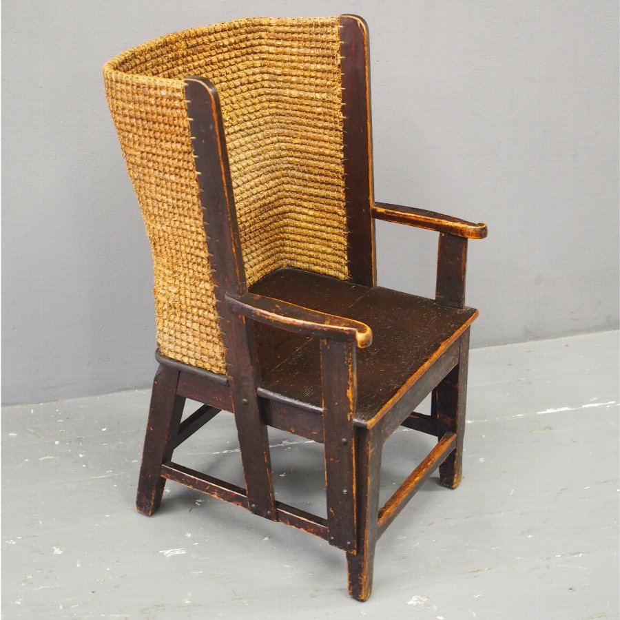 Late 19th Century Pine Orkney Chair