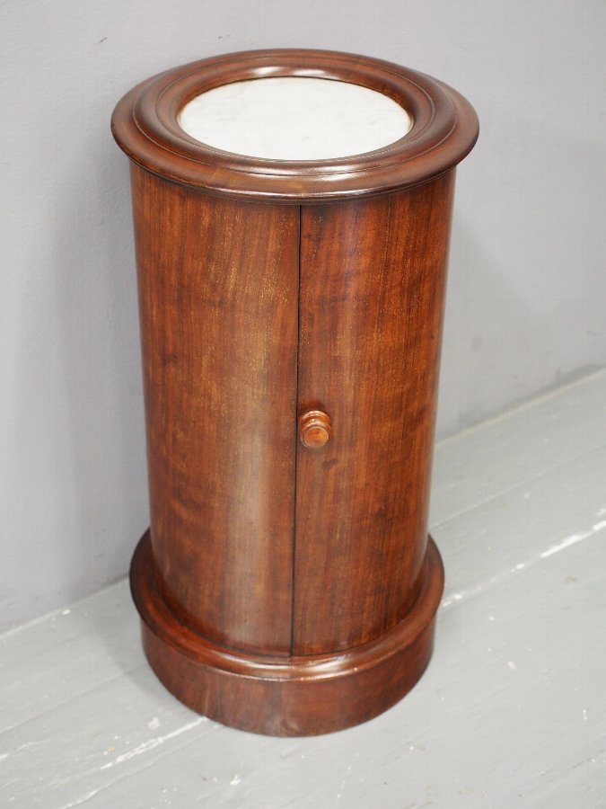 Antique Victorian Mahogany and Marble Top Pedestal