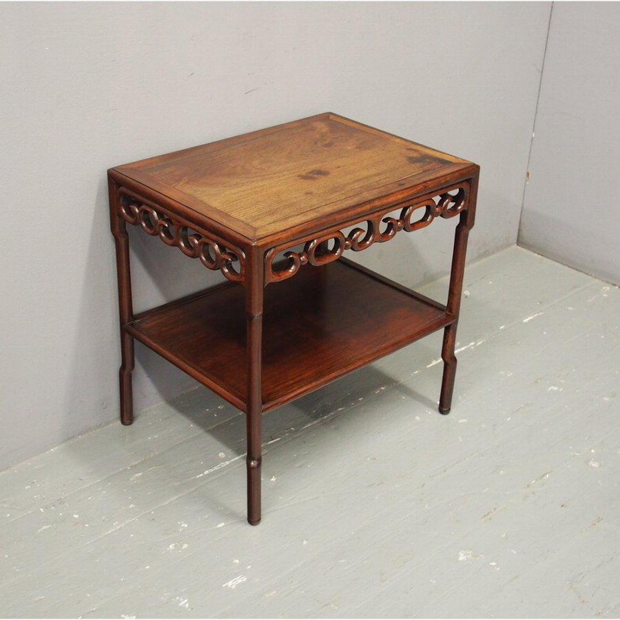 Chinese Huanghuali 2 Tier Table