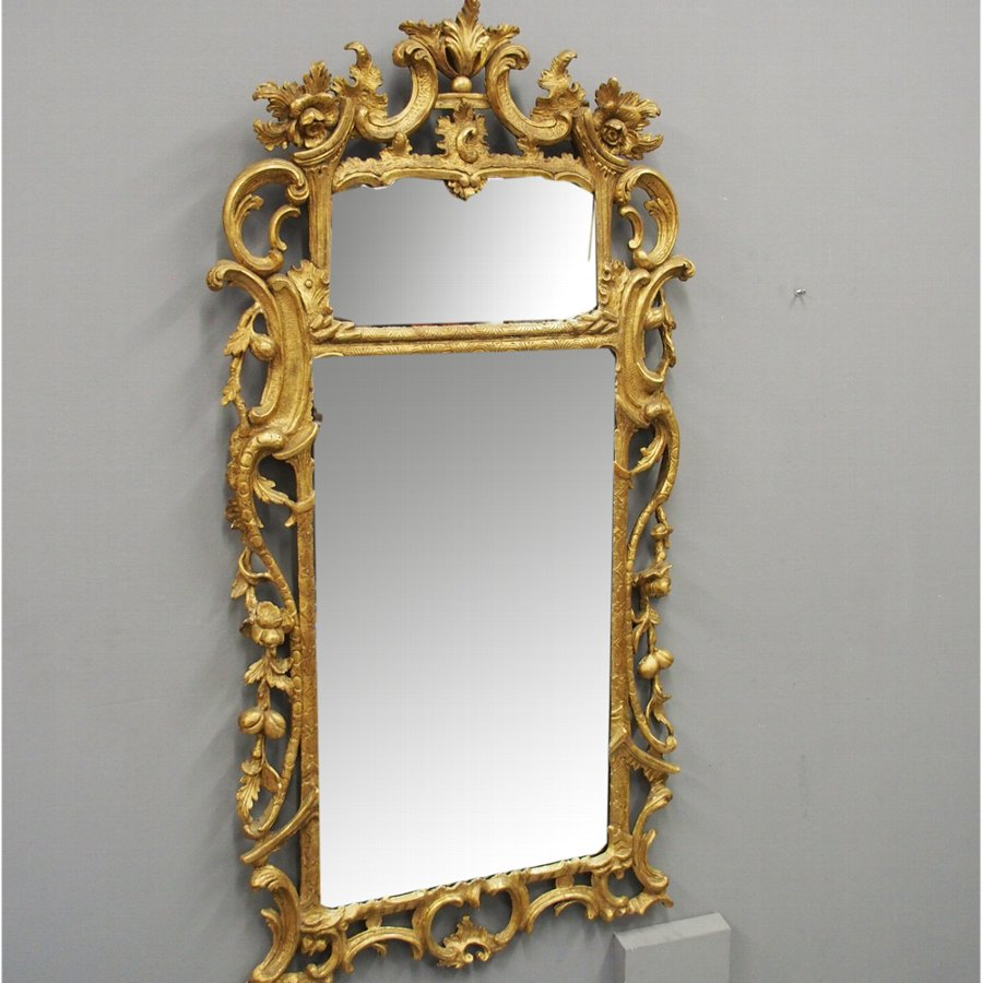 George II Carved Giltwood Mirror