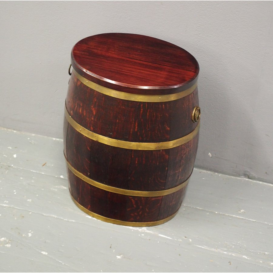 Oak and Brass Bound Barrel