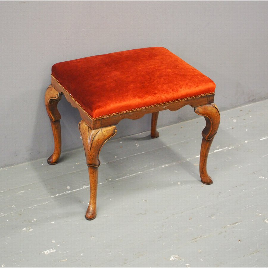George I Style Walnut Stool