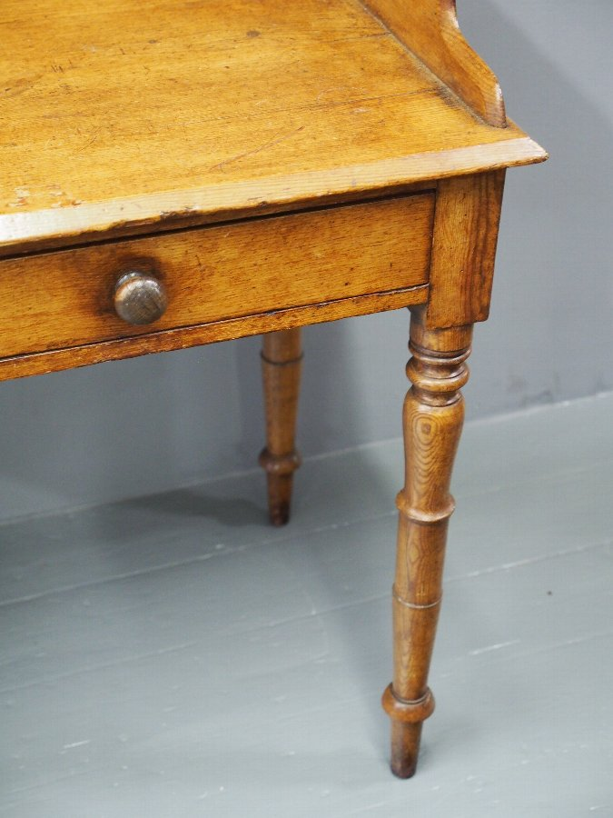 Antique George IV Scumbled Pitch Pine Side Table