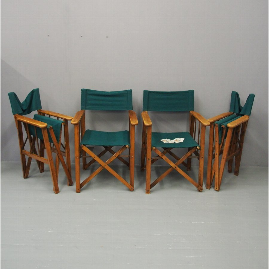 Set of 4 Folding Directors Chairs from Honourable Company of Edinburgh Golfers