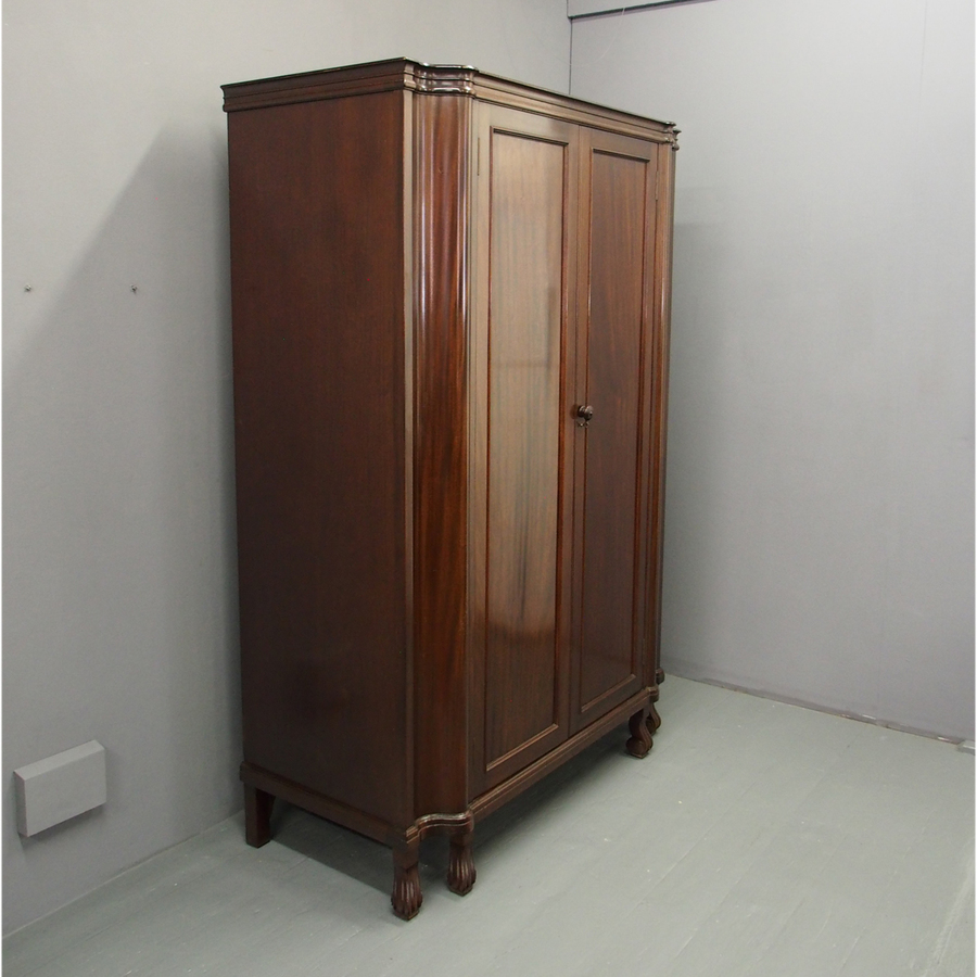Mahogany 2 Door Wardrobe
