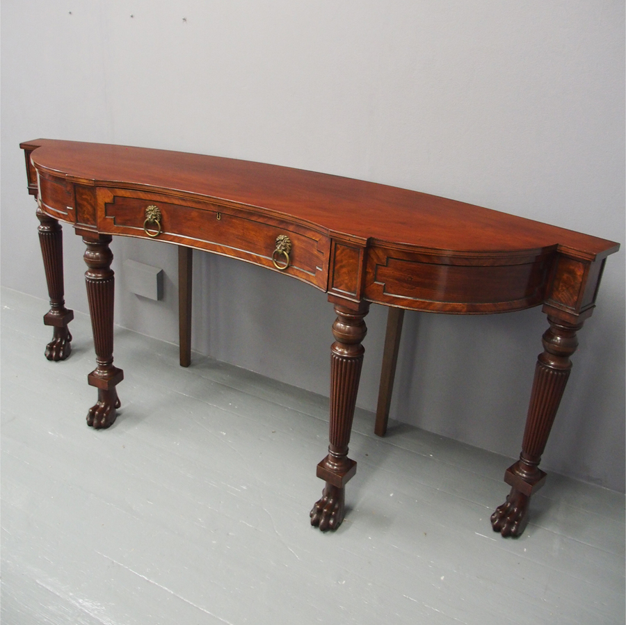 Scottish George IV Curved Mahogany Serving Table