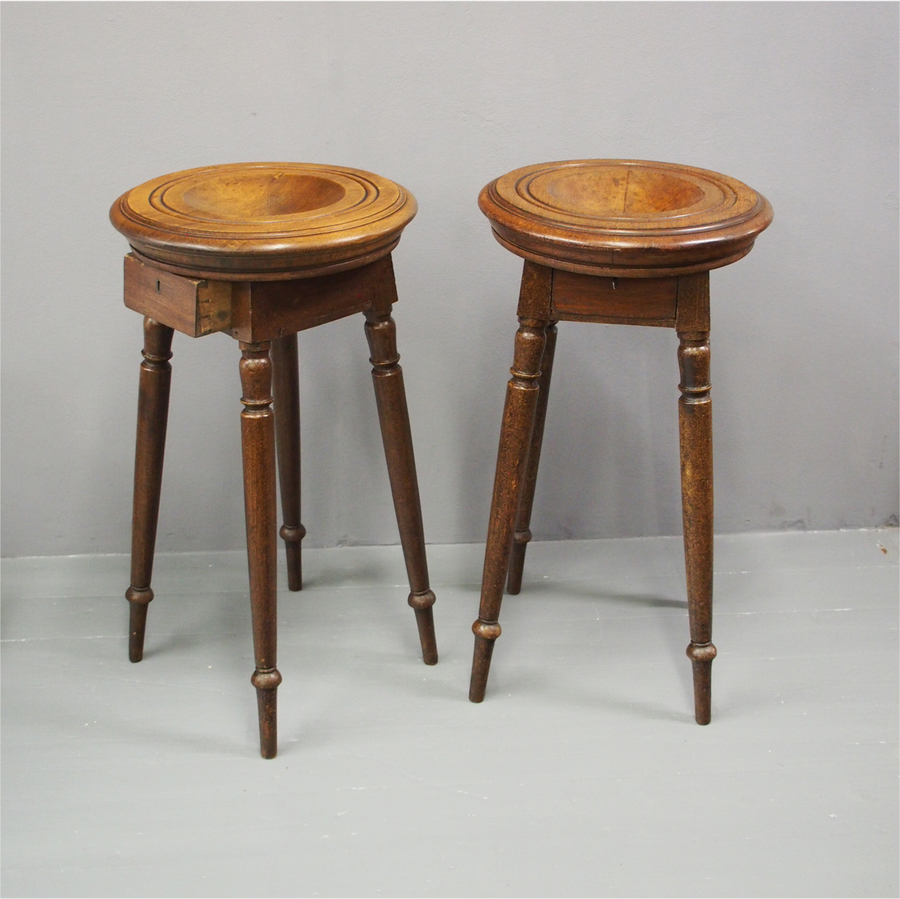 Pair of Victorian Oak Alms or Collection Tables