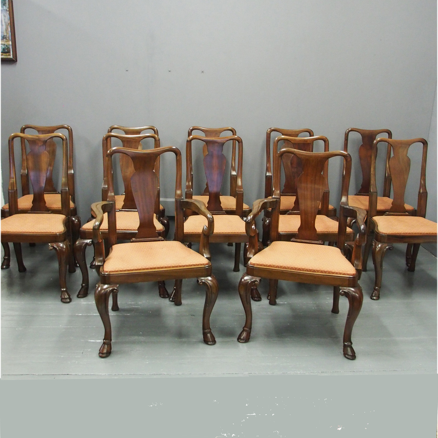 Set of 12 George I Style Dining Chairs