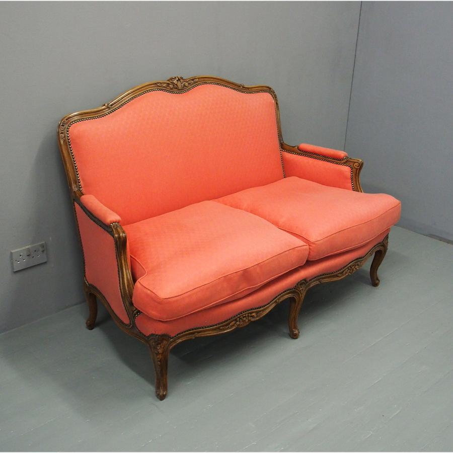 Louis XV Style Walnut 2 Seater Sofa
