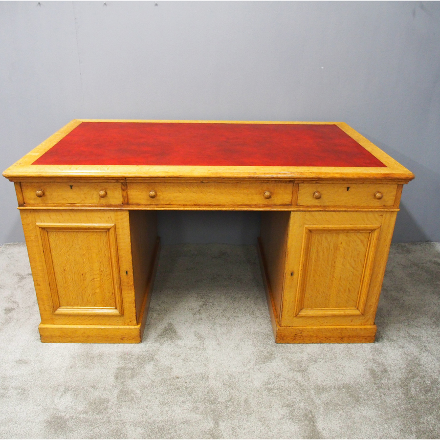 Victorian Oak Partners Desk