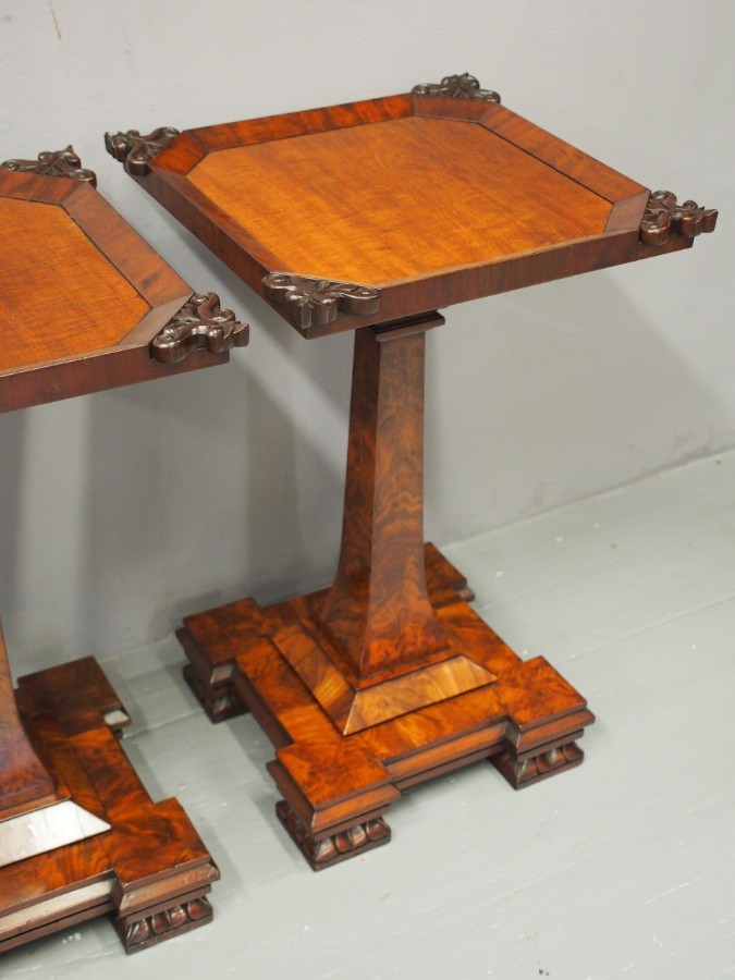Antique Pair of George IV Mahogany Occasional Tables