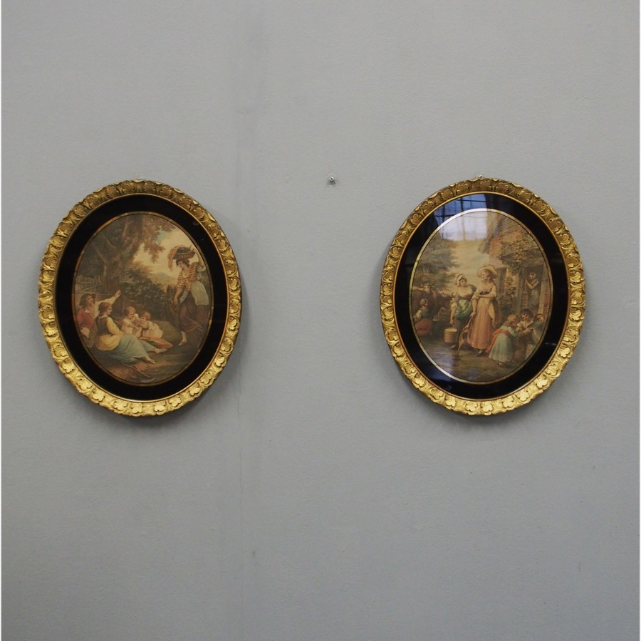 Pair of 19th Century Gilt Framed Prints