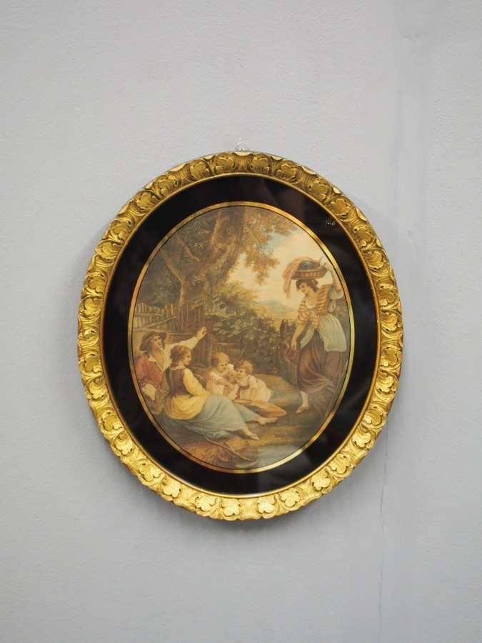 Antique Pair of 19th Century Gilt Framed Prints