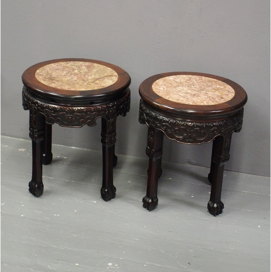 Pair of Chinese Hongmu Stands