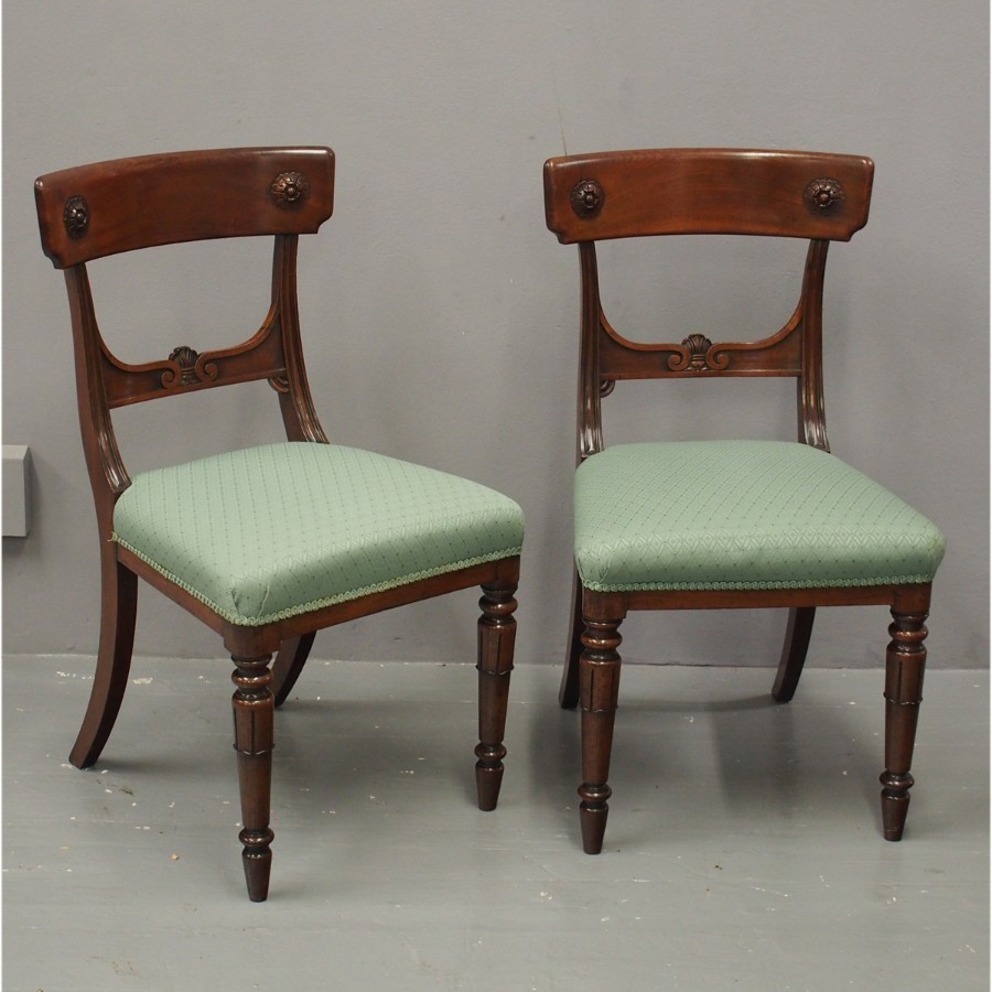 Pair of George III Mahogany Side Chairs