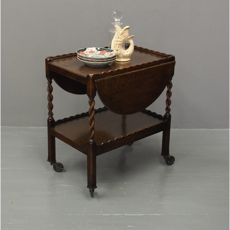 Jacobean Oak Trolley