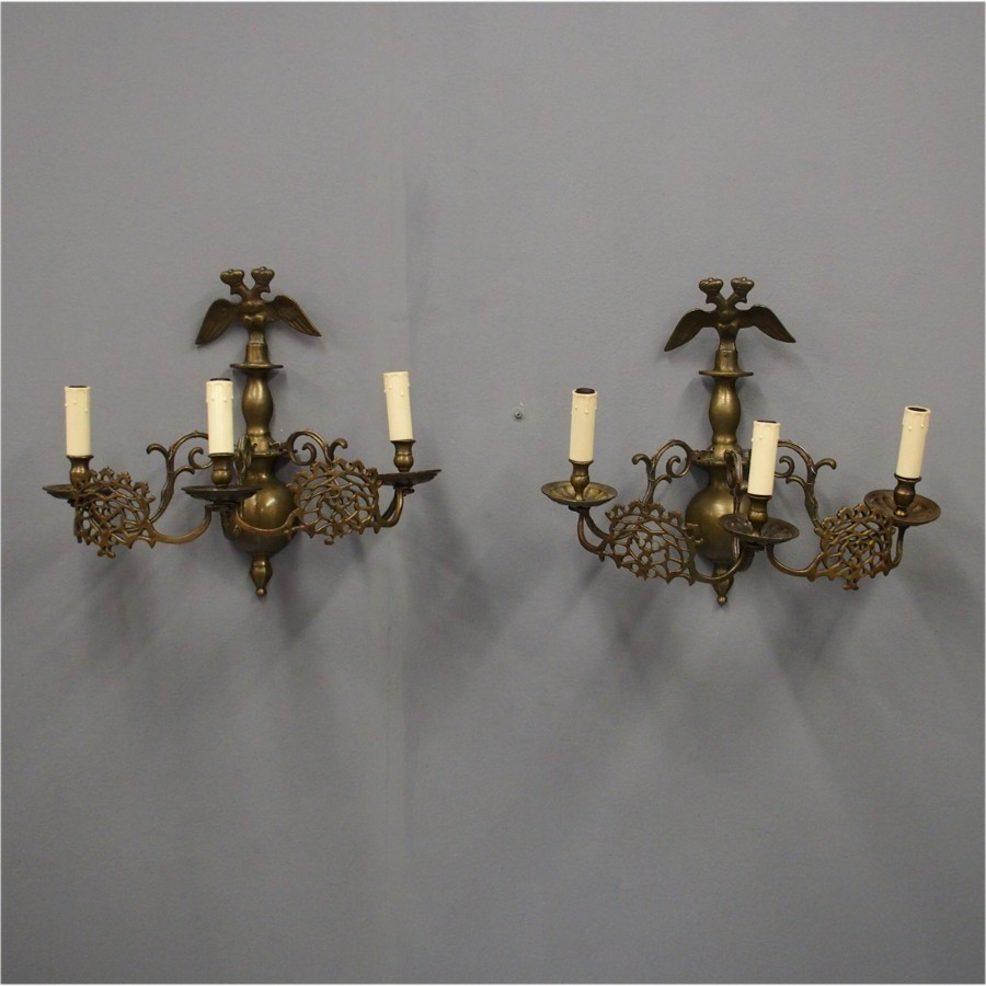 Baroque Style Eagle Bronze Wall Sconces