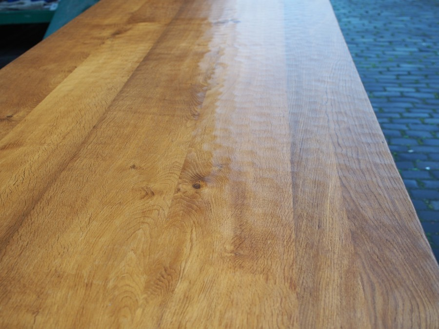 Antique Handmade Oak Dining Table or Boardroom Table by Beaverman