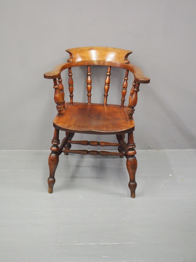 Victorian Beech and Ash Captains Chair