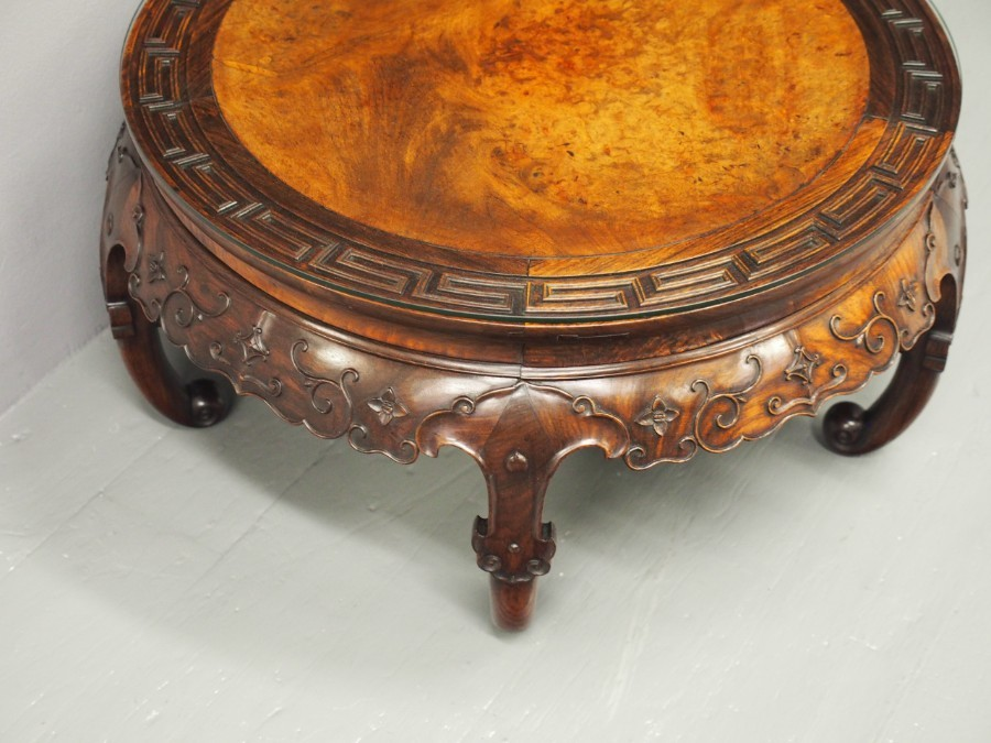 Antique Chinese Huanghuali Low Circular Table