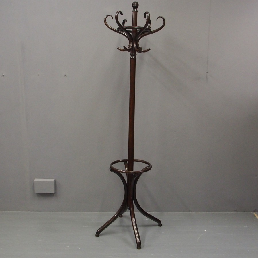Stained Beech Bentwood Hall Stand