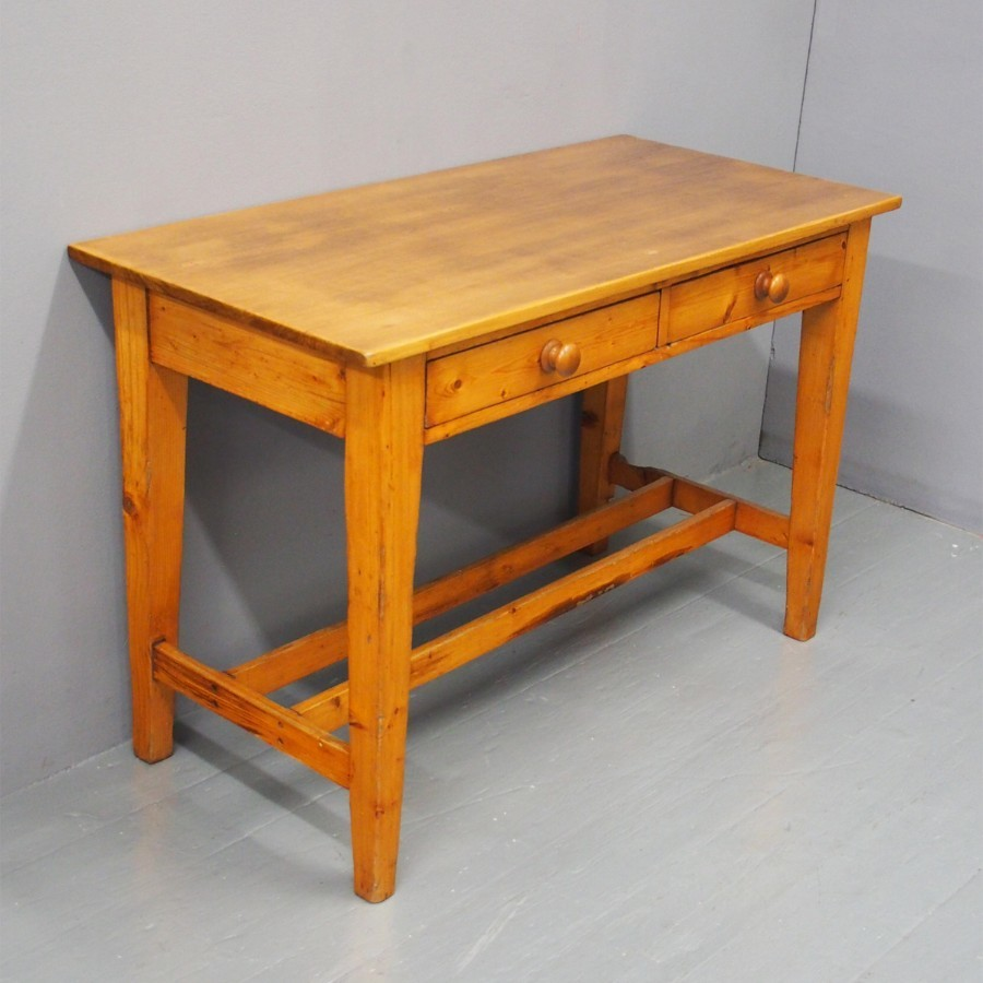 Victorian Pine and Beech Kitchen or Side Table