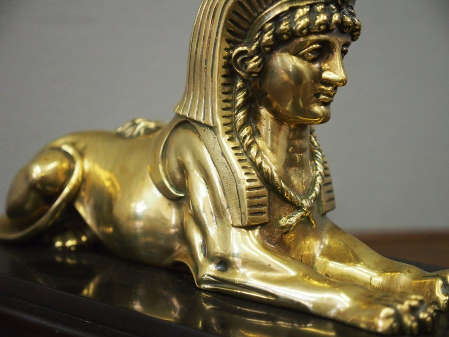Antique  Brass Model of a Sphinx