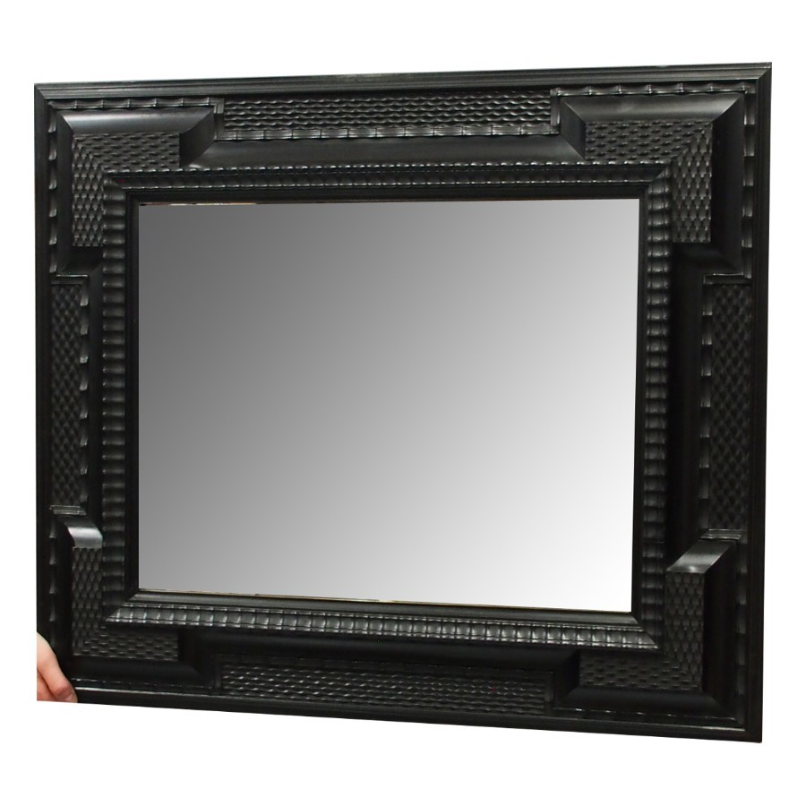 Flemish Ebonised Wall Mirror