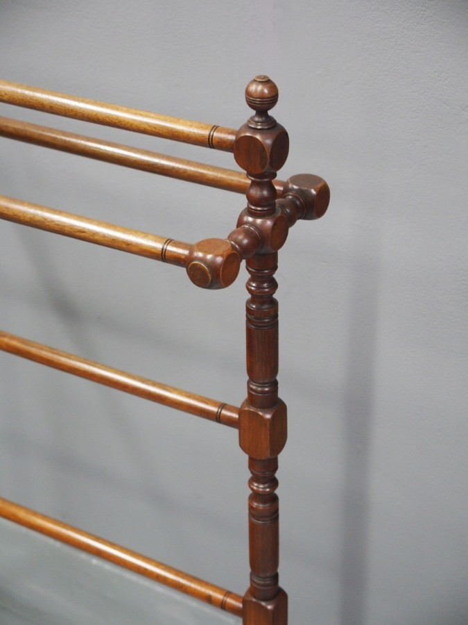 Antique Victorian Mahogany Towel Rail
