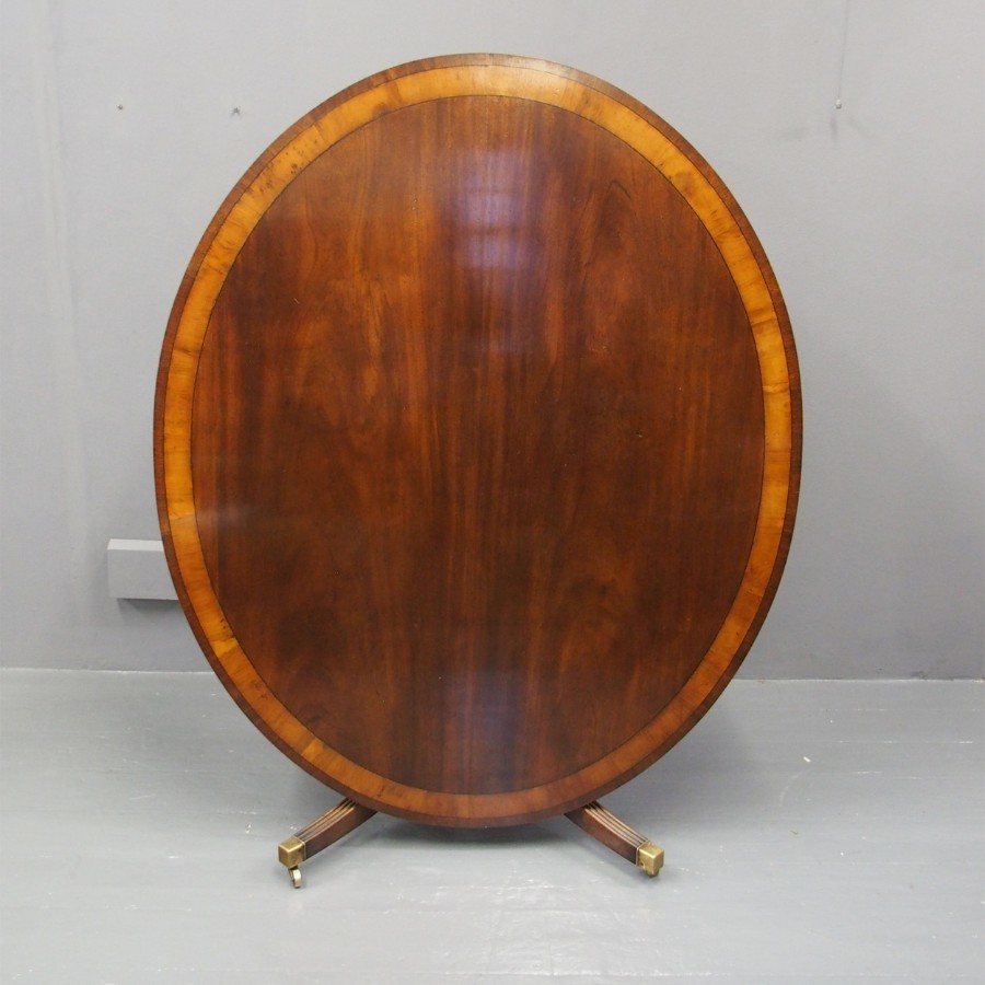 Georgian Style Mahogany Oval Breakfast Table