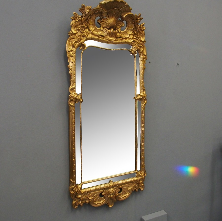Swedish Giltwood Wall Mirror