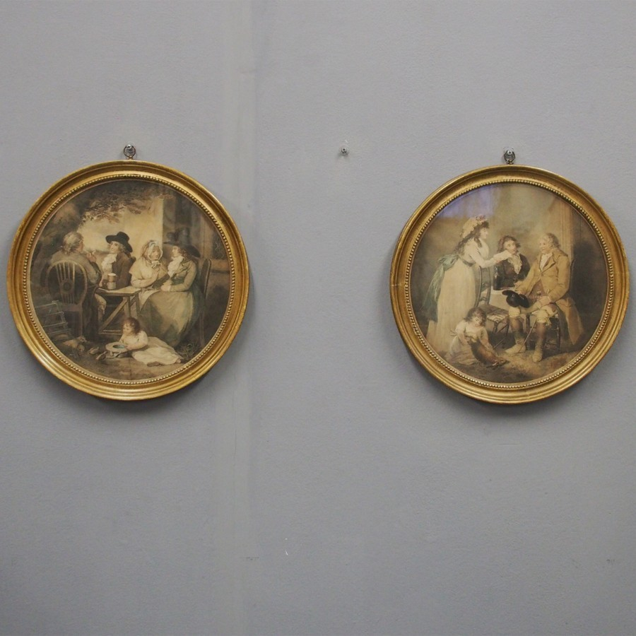 Pair of Regency Hand Tinted Engravings