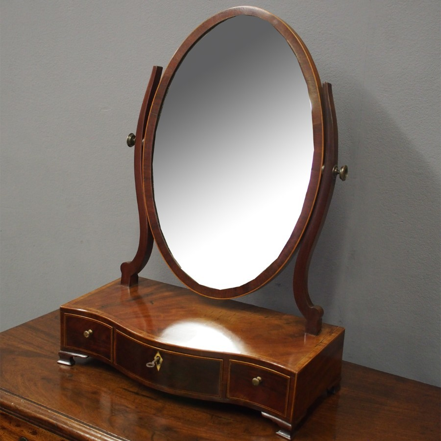 Georgian Inlaid Mahogany Dressing Mirror